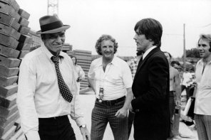 Lancaster, Winner y Delon durante el rodaje de Scorpio (1973)