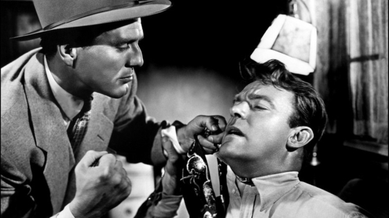 Charles McGraw y Dennis O'Keefe en T-Men (1947)