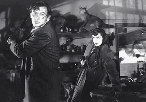 John Ireland y Marsha Hunt en Raw Deal (1948)