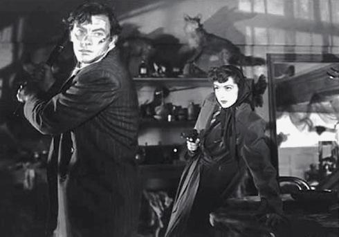 John Ireland y Marsha Hunt en Raw Deal (1948)